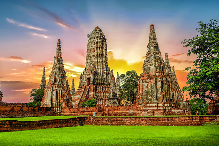 Landscape Ayutthaya flying tiger
